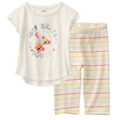 NWT Crazy 8 Girls Size 4T 5T Very Clever Tee Shirt Top /& Skinny Jeans 2-PC SET