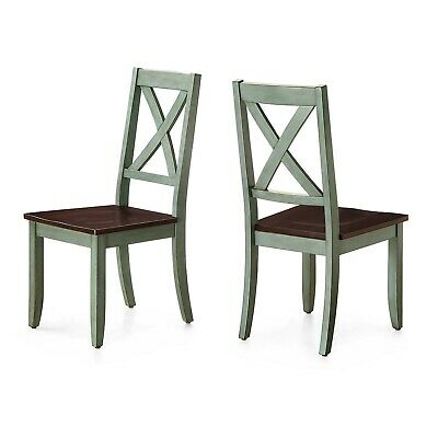 Dining Chair, Antique Sage (Set of 2) solid wood fit seamlessly into every style