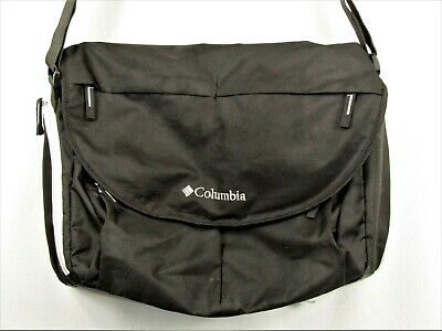 Columbia Outfitter Solar Ridge Messenger Diaper Bag Black Baby Changing Pad