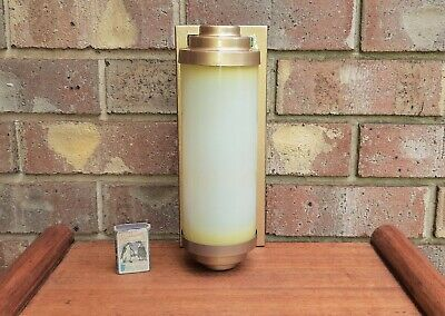 Vintage Art Deco Cylinder Outdoor Wall Light Sconce