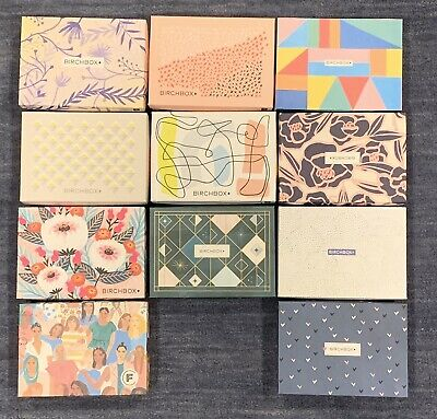 Lot Of 11 Empty BIRCHBOX Decorative & Collectible CRAFT BOXES Storage