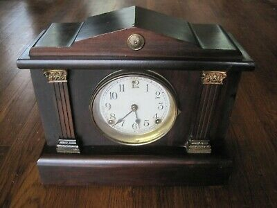 Antique/Vintage Sessions Clock-Chimes/Works-Nice Wood Case-Complete-Rare