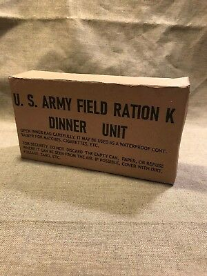WWII US Army Marine Corps K-Ration early war Dinner Ration unit