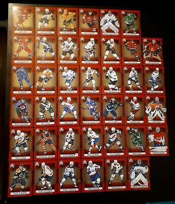 Lot Of 40  2018-19 Canadian Tire Opc Coast To Coast Red Base Cards Sp No Doubles