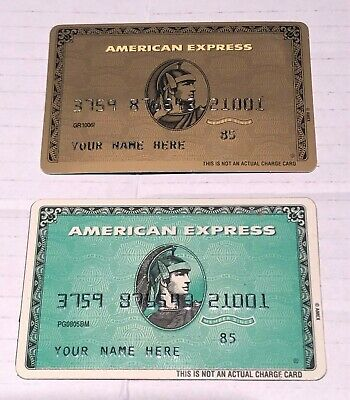 Green and Gold American Express Credit Card Advertising Magnets Lot 2