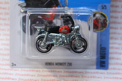 2016 Hot Wheels 5/5 MOC red tank HONDA MONKEY Z50 Motorcycle 135/250