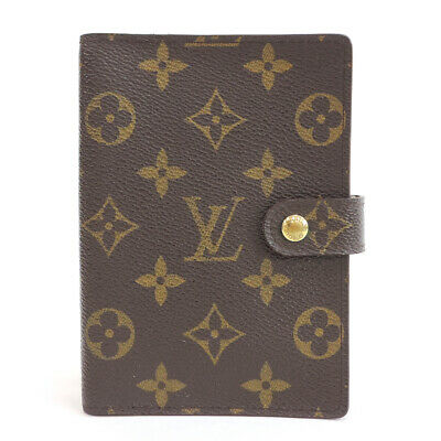 LOUIS VUITTON Monogram Agenda PM R20005 Day Plannne Cover Brown Canvas