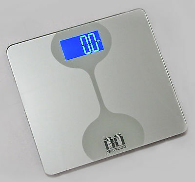Skallo Sophie 400 LBS Digital Glass STEP ON Fitness Bathroom Weight Body Scale V