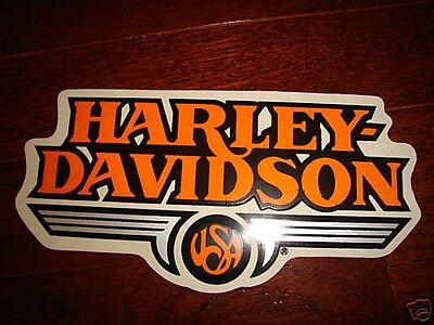 "Harley Davidson Vintage Usa Decal Sticker Md 5.25"" X 2.5"" (Inside)New"