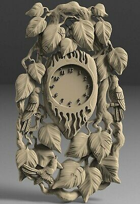 STL 3D model # WALL CLOCK LEAVES # for CNC 3D Printer Engraver Carving Aspire