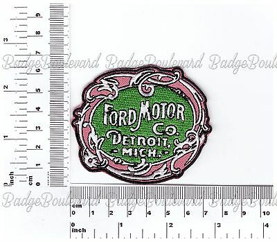 Ford Motor Co Detroit Badge Embroidered Cloth Patch