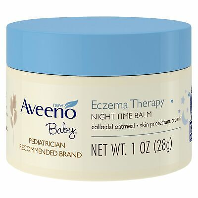 Aveeno Baby Eczema Therapy Nighttime Balm with Natural Oatmeal 28g Travel Size