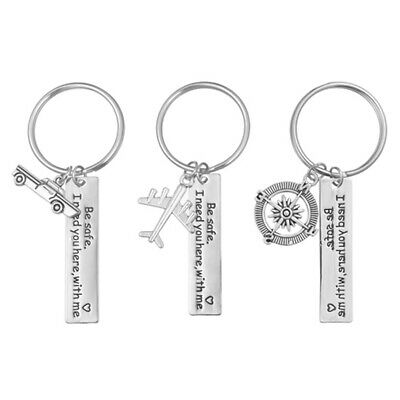 'Be safe i need you here with me' Safe Driving Keychain Metal Keyring Gift