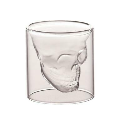 Skull Head Vodka Shot Whiskey Wine Drinking Glass Decanter Lovely Cup O4I7