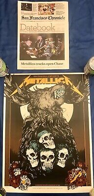 Metallica Symphony S&M2 Night 2 San Francisco S&M Concert Poster 9/8/19 Chase