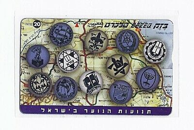 israel bezeq phonecard 1999 The youth movements in Israel