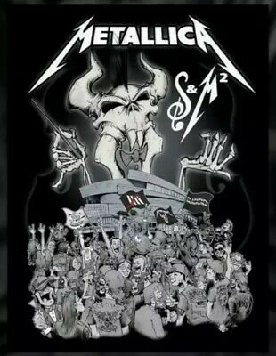 Metallica San Francisco Symphony S&M2 Concert Poster Fan Club ONLY Squindo Chase