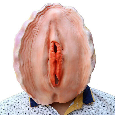 Halloween Funny Shell Full Head Face Latex Mask Party Cosplay Costume Props