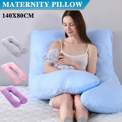 Maternity Pregnancy Nursing Sleeping Full Body Boyfriend Pillow Large  U Shape