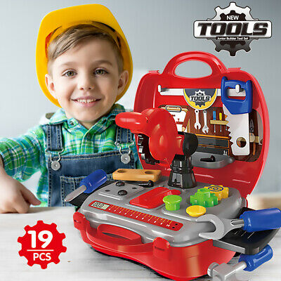 Toddler Boy Toy Tool Set Box Workbench Pretend Play Girl Kid Drill Learning Game
