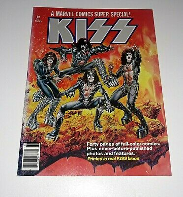 Kiss Marvel Comic 1977 in real kiss blood Mint Condition
