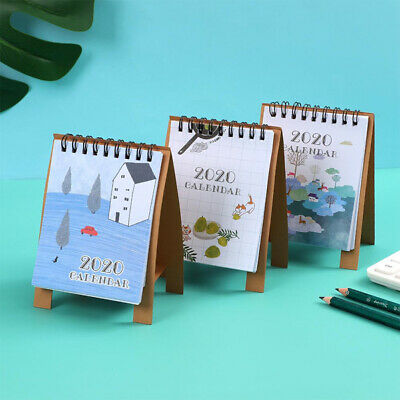 2020 Yearly Planner Annual Mini Table Desk Calendar Stand Up Office Home Planner