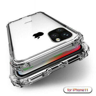For iPhone 11 Pro XS Max XR X 8 7 6 + Shockproof Transparent Silicone Case Cover