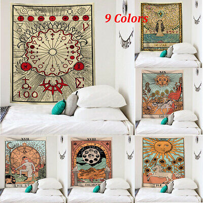 UK Large 95*73 cm Indian Tarot Tapestry Home Decor Wall Hanging Bohemian Cover