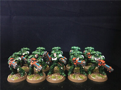 25mm Warhammer 40K DPS painted Dark Angels Primaris Hellblasters AP5220