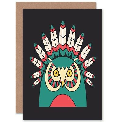"""Papyrus Greetings Father/'s Day Card Baby Owl On Dads Head ~ Sweet  6/"""" x 4.5/"""""""