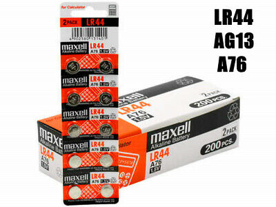 Maxell LR44 0%Hg Battery A76/AG13 Button Cell Batteries 2X 4X 6X 8X 10X OZ SELL