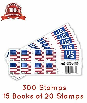 300 USPS FOREVER STAMPS, 15 Books Of First Class Mail Postage!