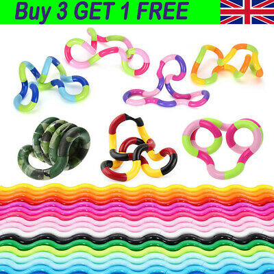 Fiddle Fidget Therapy Twisting Circle Stress Relief ADHD Autism SEN Sensory Toy