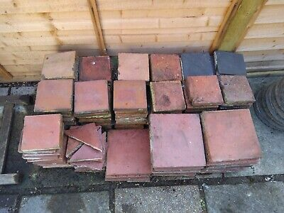 Reclaimed Victorian Quarry Tiles Various Sizes