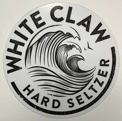 White Claw Hard Seltzer Metal Sign