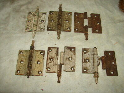 1 Lot Antique Eastlake Victorian Steeple Door Hinges - Painted - PARTS