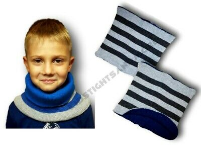 Boys Kids Children Autumn Warm Knitted Winter Scarf Neck Warmer One Size Blue