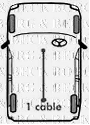 BKB2156 BORG & BECK BRAKE CABLE COMPLETE fits Land Rover Discovery 89-