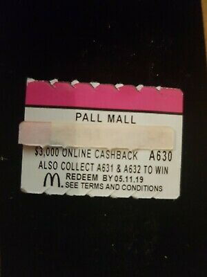 Maccas Monopoly 2019 Pall Mall A630