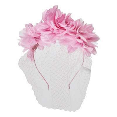NEW Maria George 3 Flower Headband With Veiling By Spotlight