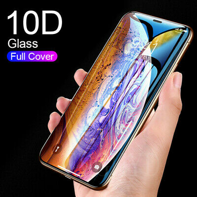 For iPhone 11 Pro X / XR XS Max 10D Edge 9H Tempered Glass Screen Protector Film