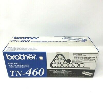 Genuine Brother TN-460 High Yield Toner Cartridge Sealed AUTHENTICATED