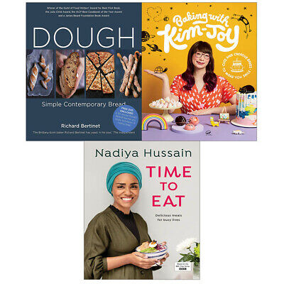 Nadiya Hussain Time to Eat, Baking with Kim Joy, Dough 3 Books Collection Set