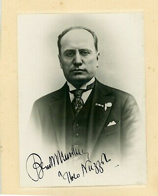 Benito Mussolini Autographed Signed Inscribed Photo Zaccaria BAS BECKETT LOA