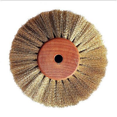 """Crimped Brass Soft Wire 4"""" Wheel Scratch Brush Jewelry Satin Finishing Of Metals"""