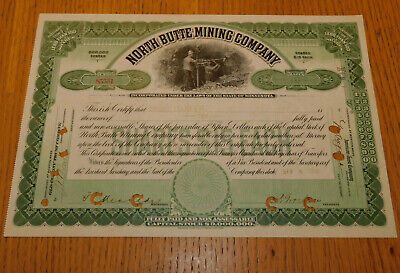 vintage ACTION MINE 1913 NORTH BUTTE MINING COMPANY bright sears co PAINE WEBBER