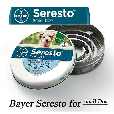 Bayer Seresto Flea and Tick Collar for Dogs Small Dog Up to 18 lbs,Fast Shipping