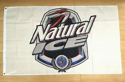 Natural Ice 3x5 Ft Flag Indoor Outdoor Banner Man Cave Natty