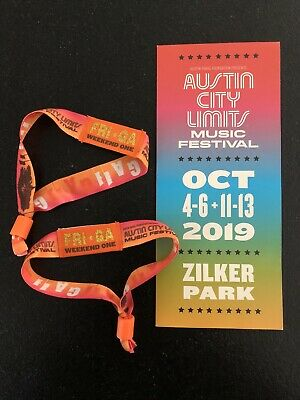 2019 Austin City Limits FRIDAY Day Pass WEEKEND ONE GA Wristband for OCT 4