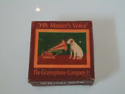 Gramophone Sound Box Box His Masters Voice Jack Russell Dog Display Film Prop